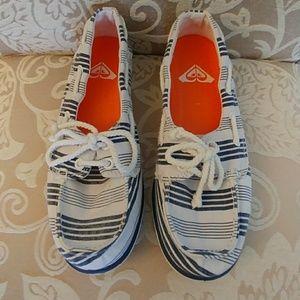 Roxy Quicksilver Striped Boat Shoes